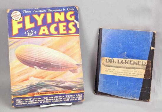 """1936 """"Flying Aces"""" Magazine & Zeppelin Scrapbook"""