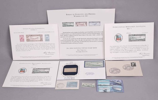 Commemorative Zeppelin Stamps, Covers