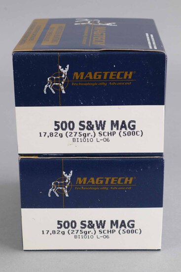 .500 S&W Mag Ammo by MAGTECH, 40 Rounds