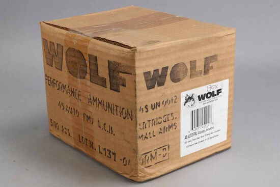 500 Rounds Wolf .45 Auto FMJ  Ammo in Box