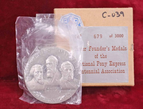 1960 Silver Medal - Pony Express Founders, 132.5 Grams