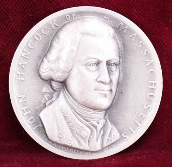 John Hancock Silver Memorial Medal, 26 Grams