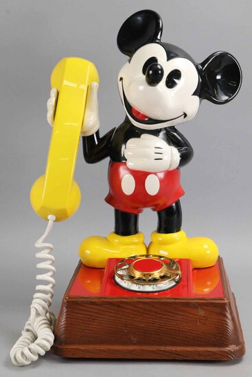 Mickey Mouse Telephone - Rotary Dial, Circa 1976