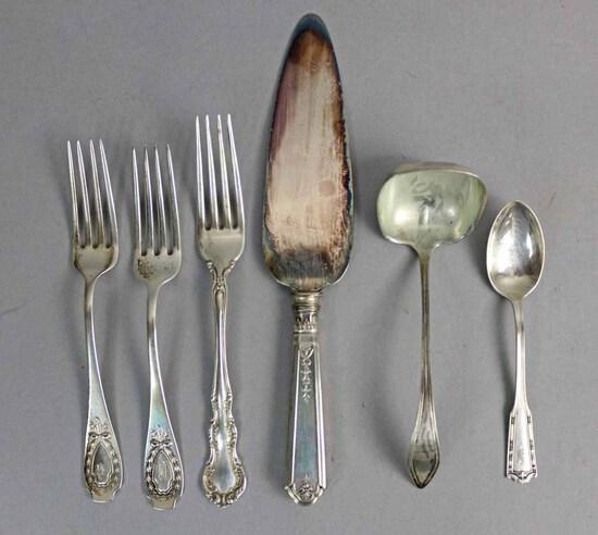 Sterling Silver Flatware & Ladle, 170.6Grams
