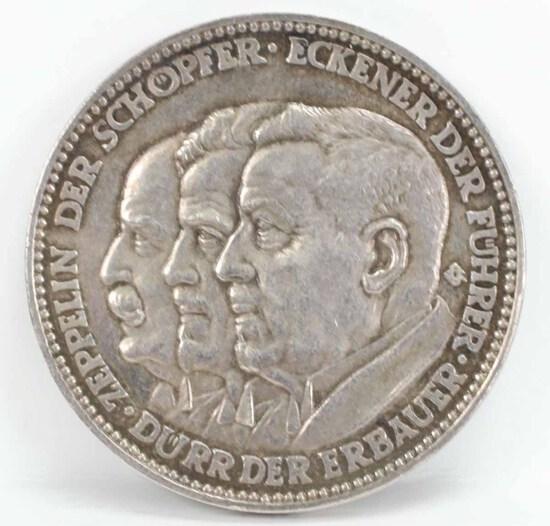 Graf Zeppelin World Flight Commemorative Medal, Ca. 1929