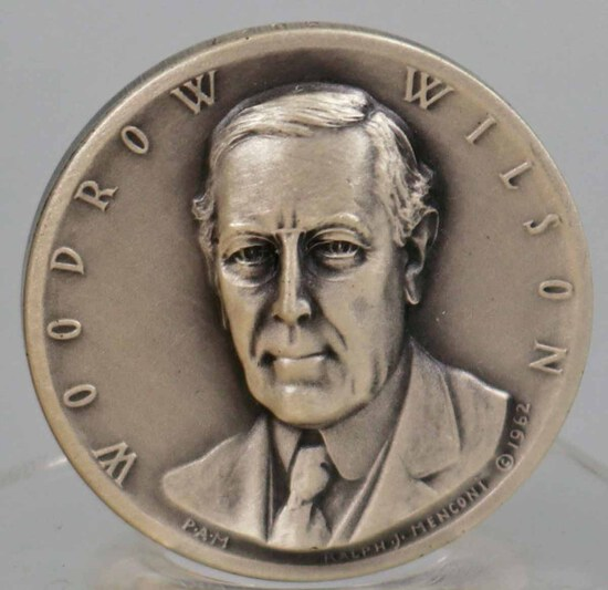 Silver Woodrow Wilson Presidential Medal, 24.9 Grams