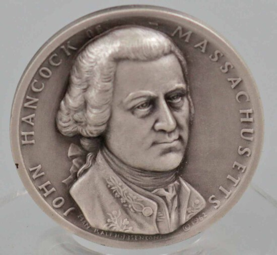 Silver John Hancock Presidential Medal, 25.9 Grams