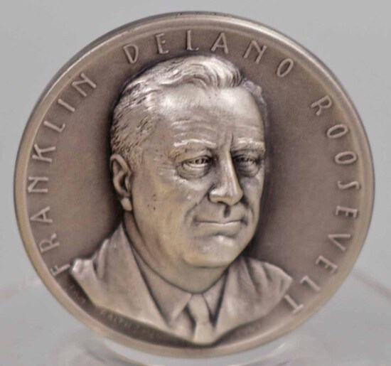 Silver Franklin Roosevelt Presidential Medal, 22.9 Grams