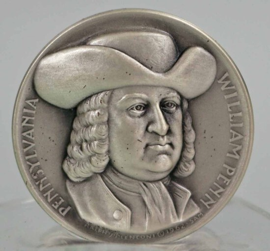 Silver State of Pennsylvania Statehood Medal, 23.6 Grams