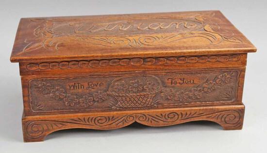 Handmade Wooden Keepsake Box for Vivian