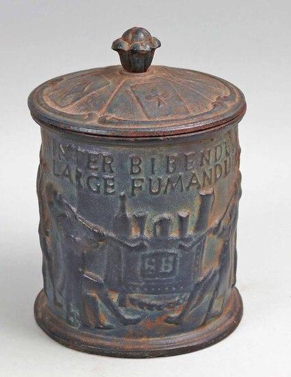 Antique Cast Iron Humidor - Tobacco Jar, Ca. 1800's, Sweden