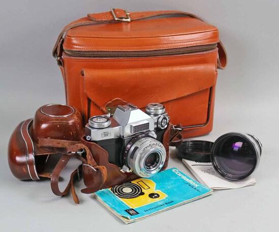 Zeiss Ikon Contaflex Super SLR 35mm Camera w/Case
