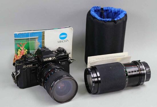 Minolta X-700 35mm Camera w/ Telephoto Lens