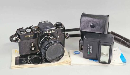 Minolta XE-7 35mm  SLR Film Camera w/ Flash