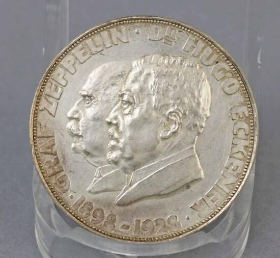Commemorative Graf Zeppelin Medal, Ca. 1929