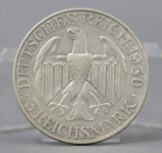 Silver Graf Zeppelin 3 Reichsmark Coin, 1930