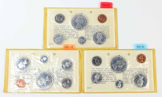 3 1964 Canadian Silver Proof Like Sets