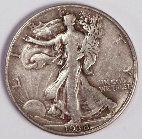 1938 D Walking Liberty Half Dollar