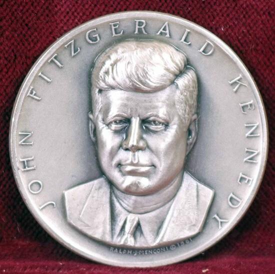 Silver JFK Presidential Medal, 24.2 Grams