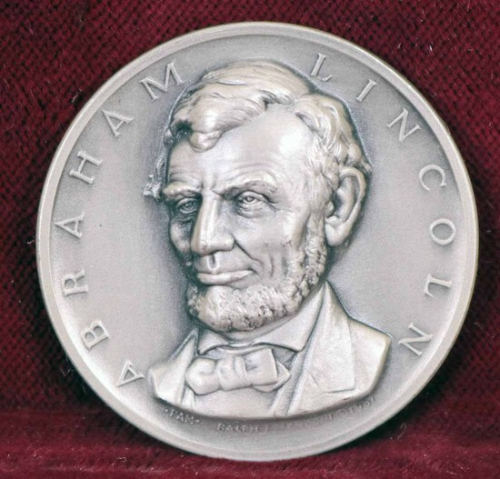 Silver Abraham Lincoln Presidential Medal, 23.6 Grams
