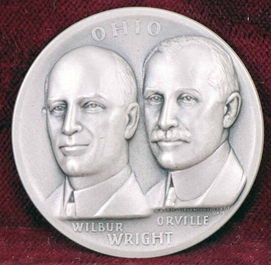 Silver Ohio State  Medal - Wright Brothers, 27.4 Grams