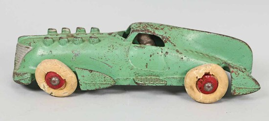 1920's Hubley Cast Iron Green Race Car