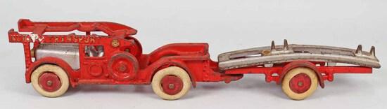 "Hubley ""NUCAR"" Auto Transport Truck - Trailer, Ca. 1930"