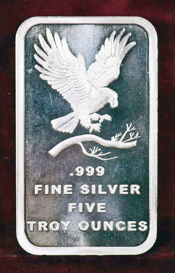"Five Ounces Silver Bullion ""Eagle"""