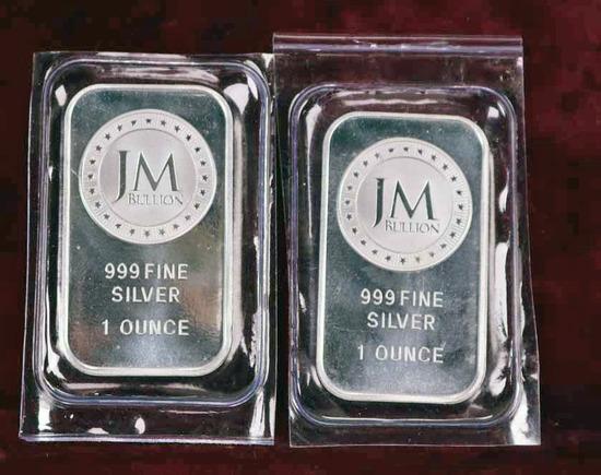 """2 Troy Ounces """"JM Bullion"""" Silver"""