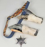 Vintage Cap Pistols, Holster & Toy Badge