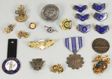 Assorted Navy & Air Force Medals & Lapel/Hat Pins
