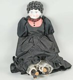 Vintage Dolly Madison w/ Porcelain Head, Hands & Feet