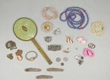 Vanity Mirror, Costume Jewelry & More