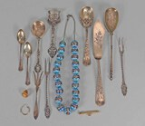 Sterling Silver, European Silver, Scrap Gold, Silver Cloisonné Beads