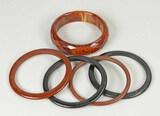 Bakelite Bangle Bracelets - Brown & Black