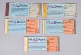 Disneyland Ticket Books - Partial, Circa 1970's