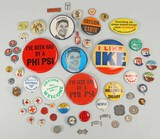 Campaign Buttons, Pins, Tokens. Etc.