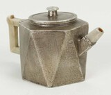 Chinese Tin-Covered Zisha Teapot