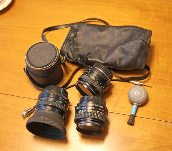35mm Film Camera Lenses: Minolta & Super Albinon