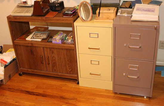 2 File Cabinets and Office Cabinet