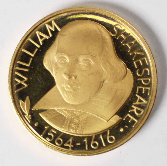 22K Gold William Shakespeare 1564-1616 Commemorative