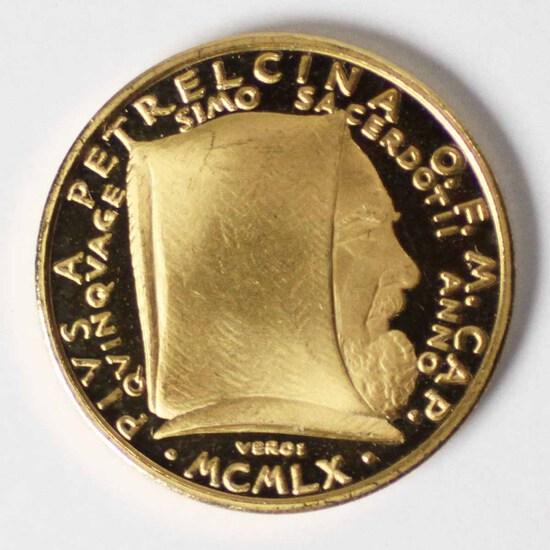 1960 Gold Pivs A Petrecina O.F.M. CAP. Commemorative
