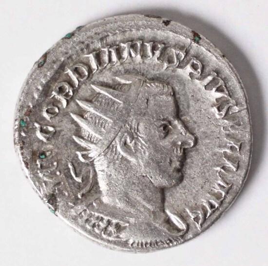 238-244 AD Imperial Rome 2 Denarius AR Gordon III