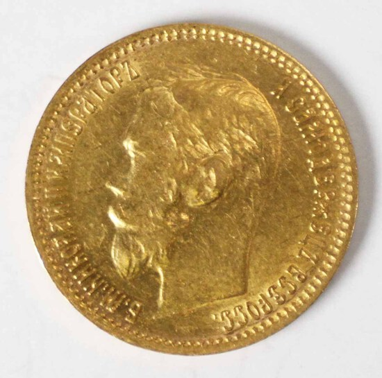 1901 Gold Russia 5 Rouble