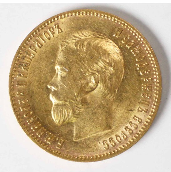 1903 Gold Russia 10 Rouble