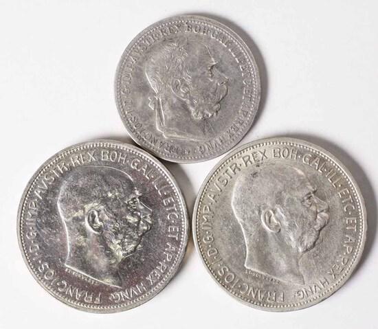 1899 1 Korona + 1912 & 1913 2 Korona