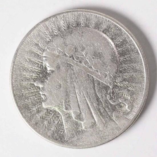 "1932 Poland 10 Zlotych, ""Queen Jadwiga"