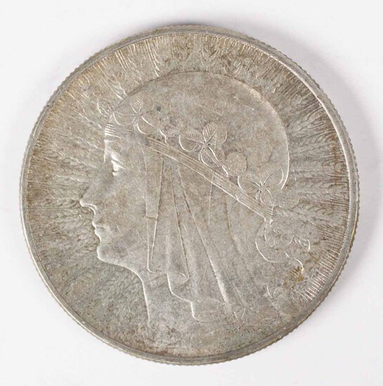 "1933 Poland 10 Zlotych, ""Queen Jadwiga"