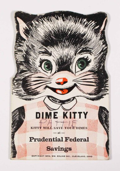 30 Silver Dimes in Dime Kitty Prudential Federal Savings Book