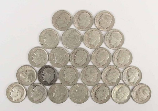 25 - 1948-S  Roosevelt Silver Dimes